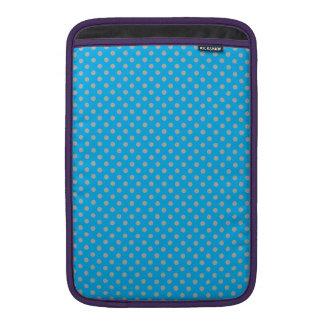 sky blue tiny gray polka dots MacBook sleeve