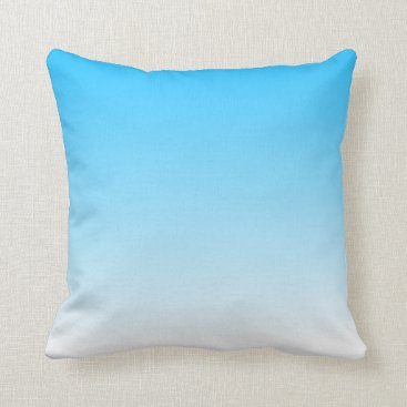 sterlingnights Sky Blue to White Ombre Throw Pillow