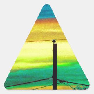 Sky Blue Triangle Sticker