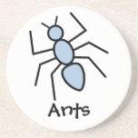 Sky Blue Vector Ant Coasters