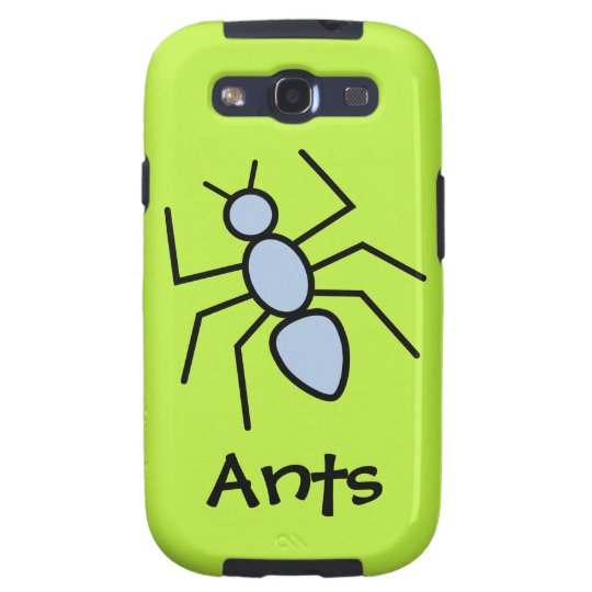 Sky Blue Vector Ant (Grass Green Background) Samsung Galaxy S3 Case