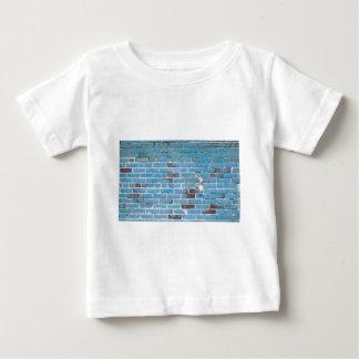 Sky Blue Vintage Brick Wall Texture Baby T-Shirt