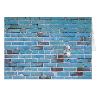 Sky Blue Vintage Brick Wall Texture Card