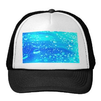 SKY BLUE WATER DROPS TRUCKER HAT