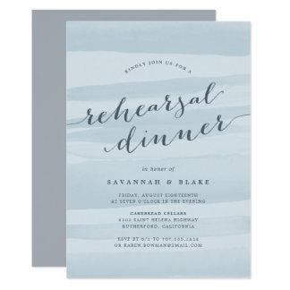 Sky Blue Watercolor Rehearsal Dinner Invitation