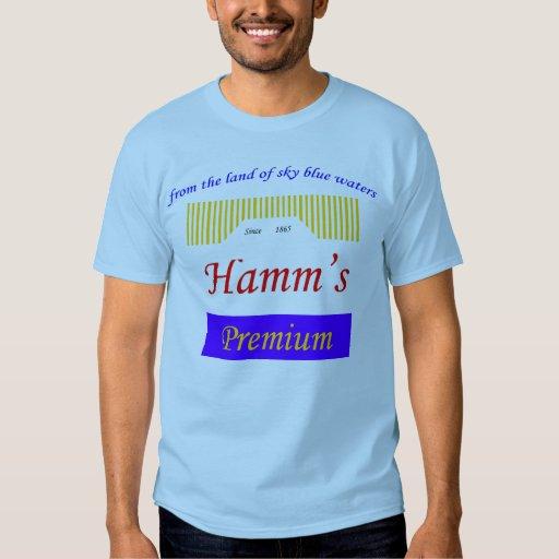 sky blue waters, Hamms logo T Shirt