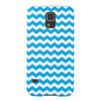 Sky blue white chevrons case for galaxy s5