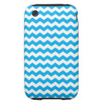Sky blue white chevrons tough iPhone 3 cases