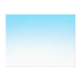 Sky Blue White Ombre Canvas Print