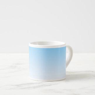 Sky Blue White Ombre Espresso Cup
