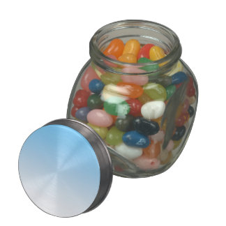 Sky Blue White Ombre Jelly Belly Candy Jars