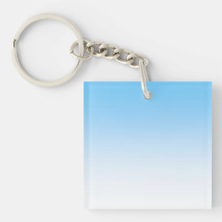 Sky Blue White Ombre Keychain