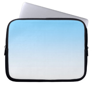 Sky Blue White Ombre Laptop Sleeves