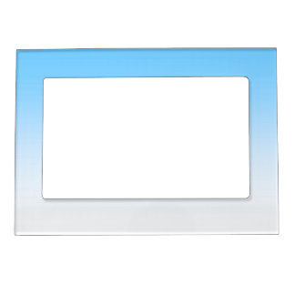 Sky Blue White Ombre Magnetic Photo Frame