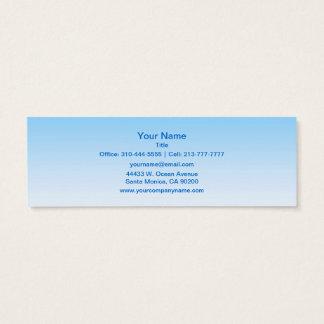 Sky Blue White Ombre Mini Business Card