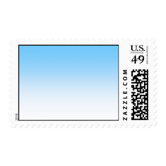 Sky Blue White Ombre Postage Stamp