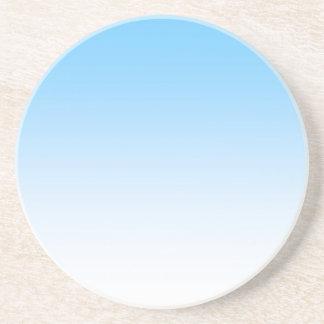 Sky Blue White Ombre Sandstone Coaster