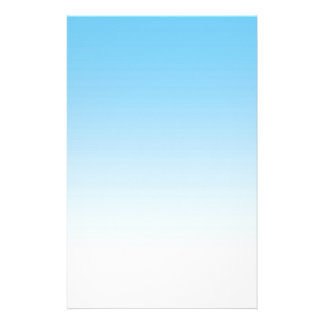 Sky Blue White Ombre Stationery
