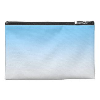 Sky Blue White Ombre Travel Accessory Bag