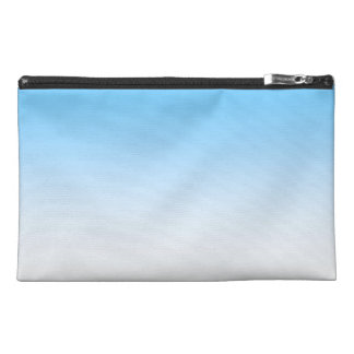 Sky Blue White Ombre Travel Accessory Bags