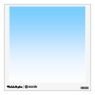 Sky Blue White Ombre Wall Decal