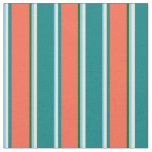 [ Thumbnail: Sky Blue, White, Teal, Red & Dark Green Colored Fabric ]