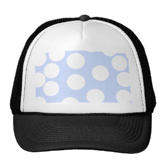 Sky blue with large white dots. Custom Hats