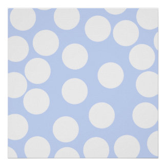 Sky blue with large white dots. Custom Print