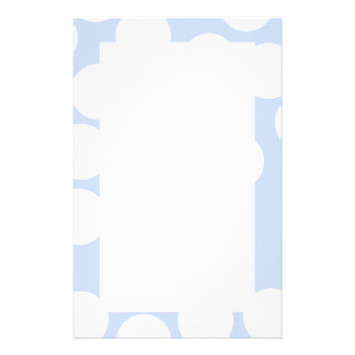 Sky blue with large white dots. Custom Stationery