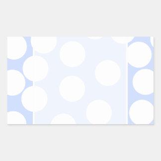 Sky blue with large white dots Custom Rectangular Sticker