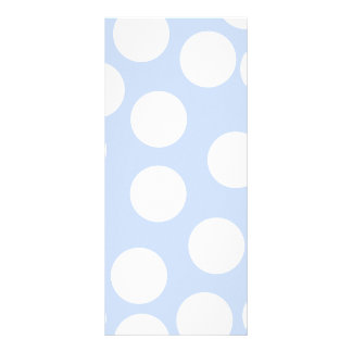 Sky blue with large white dots. rack card template