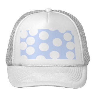 Sky blue with large white dots. trucker hat