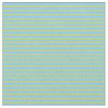 [ Thumbnail: Sky Blue & Yellow Stripes Pattern Fabric ]