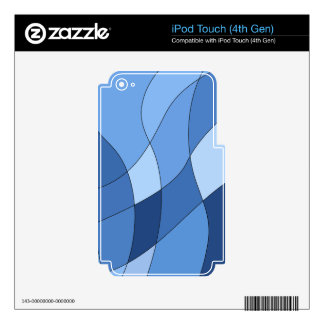 Sky blues - stylish trendy and simple design decal for iPod touch 4G
