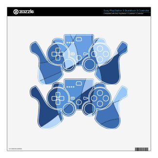 Sky blues - stylish trendy and simple design PS3 controller skin