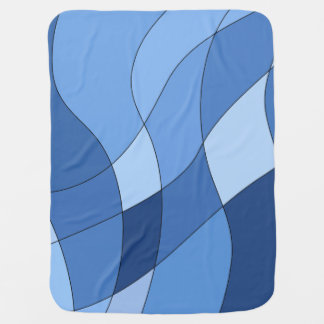 Sky blues – trendy stylish design baby blanket
