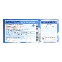 sky boarding pass wedding ticket-invite with rsvp 4&quot; x 9.25&quot; invitation card (<em>$2.57</em>)