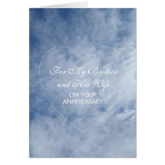 Sky Brother And Wife Wedding Anniversary Card