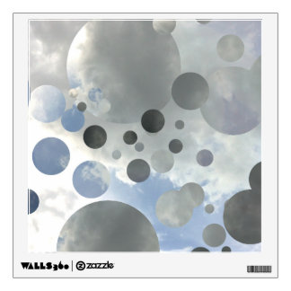 Sky Bubbles fragmented Graphic Design Wall Decal