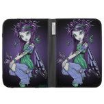 Sky Butterfly Fairy Rose Tattoo Kindle Case