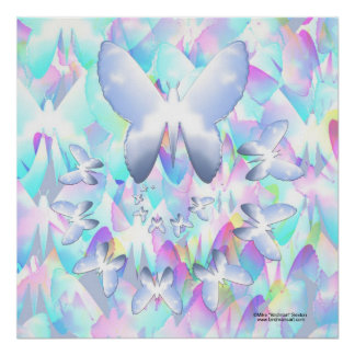 Sky Butterfly Posters