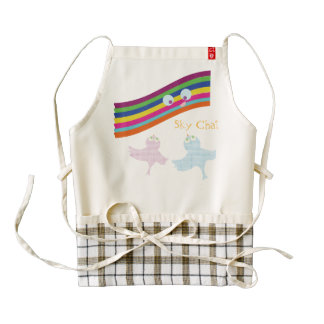 Sky Chat Zazzle HEART Apron