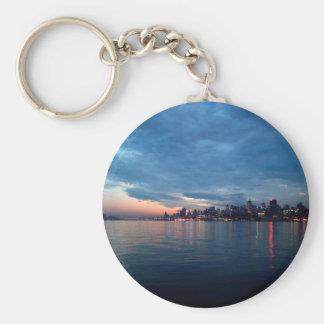 Sky City Light Reflects Dusk Keychain