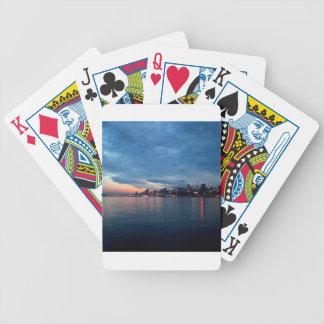 Sky City Light Reflects Dusk Bicycle Poker Cards