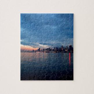 Sky City Light Reflects Dusk Jigsaw Puzzle
