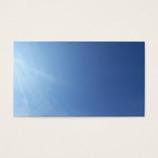 Sky Cloud Blue Plain Classic Nature Business Cards