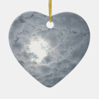 Sky clouds ceramic ornament