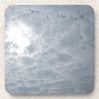 sky clouds drink coaster