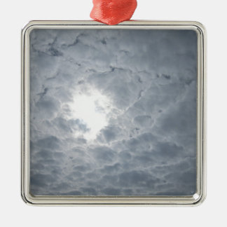 Sky clouds metal ornament