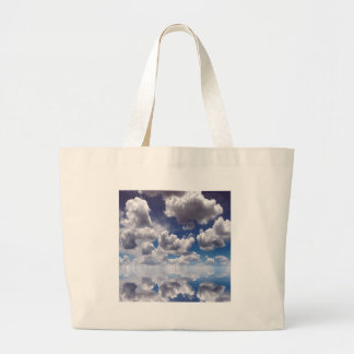 Sky Clouds Over Water Canvas Bags